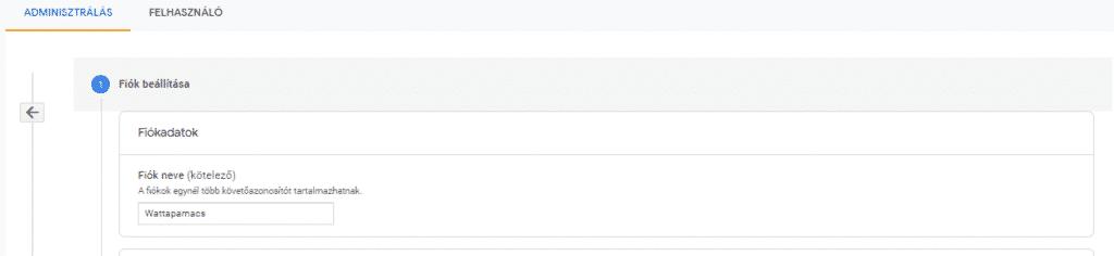 Így add meg a Google Analytics-fiók nevét